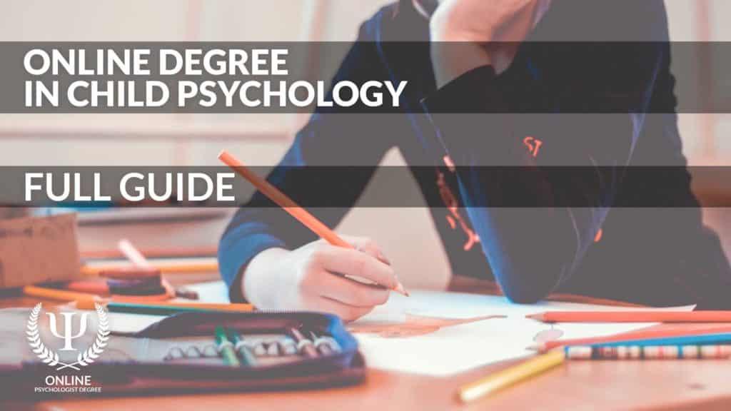child psychology degree online