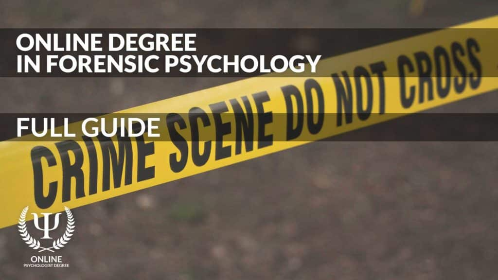 forensic psychology degree online