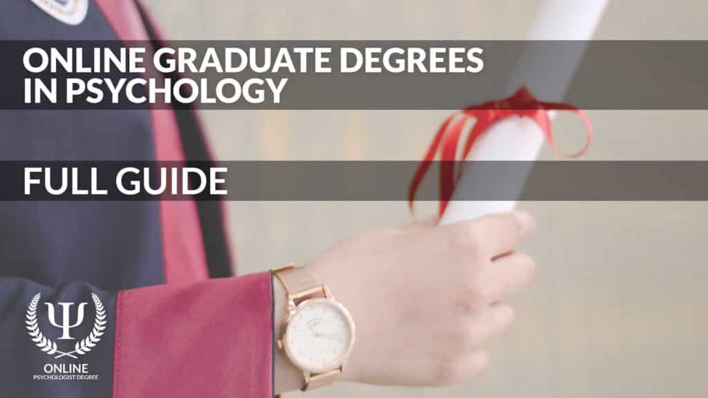 online graduate degrees in psychology