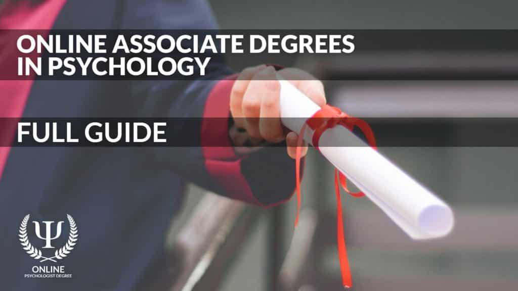 online psychology associates degree